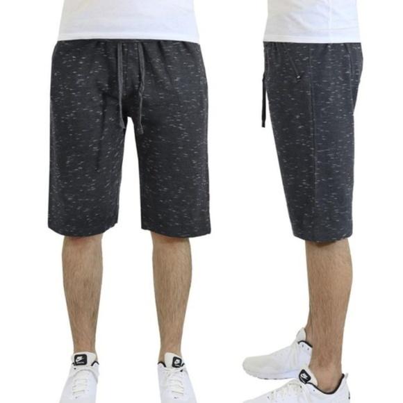 jogger shorts zip pockets